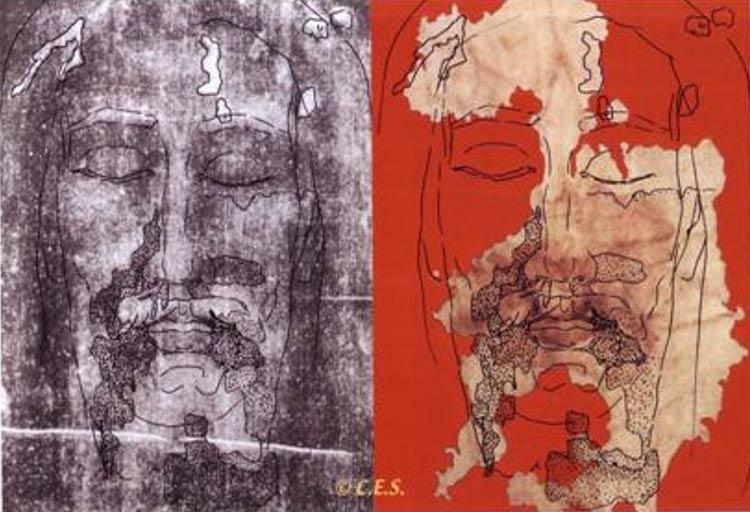 El Sudario de Oviedo (derecha) se ajusta perfectamente al rostro de la Sábana Santa de Turín (izquierda). Shroud Story