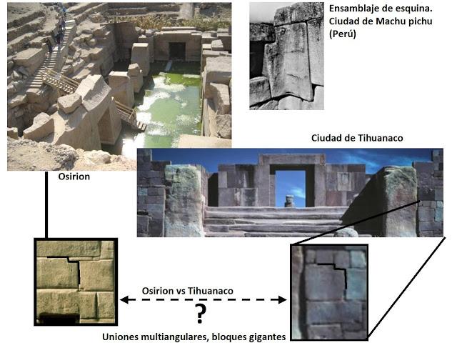 Comparación de la arquitectura del Osirión con la de otros monumentos del mundo, en este caso Tiahuanaco y Machu Picchu (Historia Enigmática)