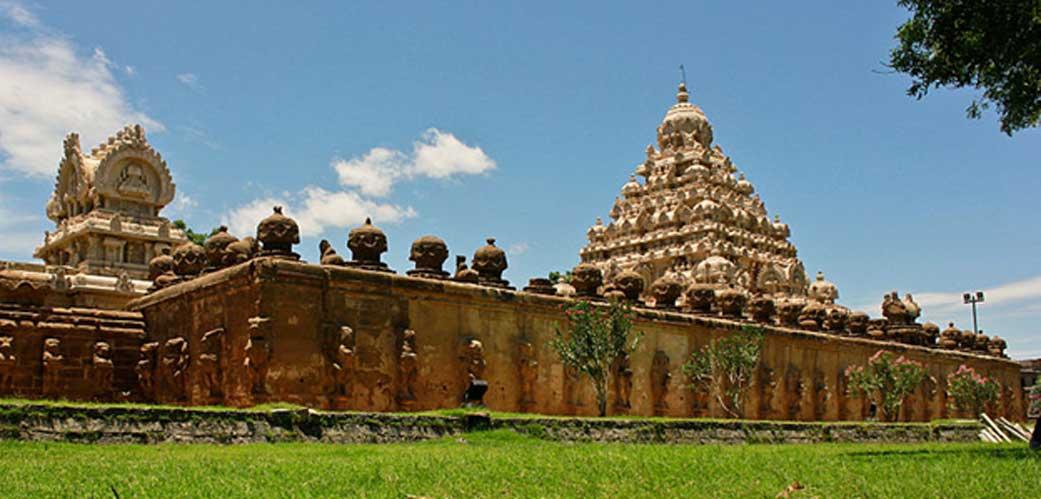 Panorámica de parte del complejo del templo de Kailasanathar. (CC BY-SA 3.0)