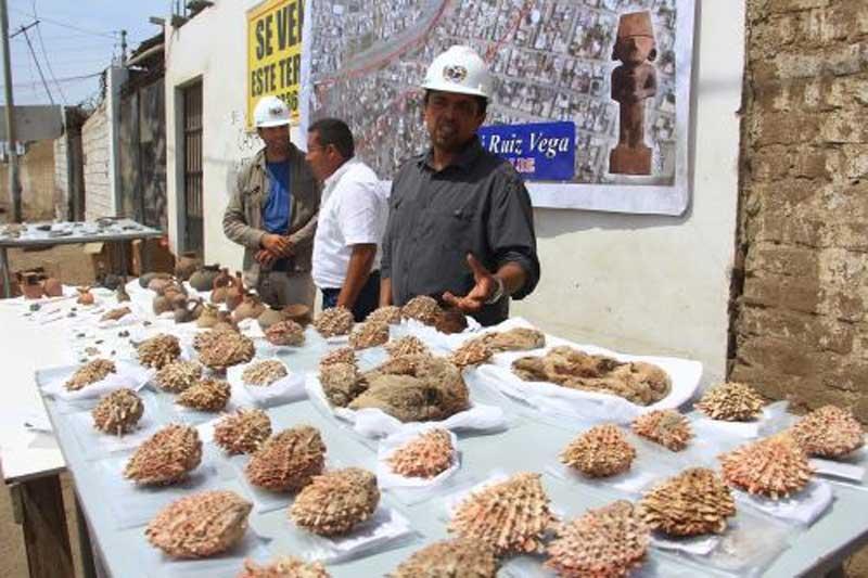 En una sola tumba se encontraron numerosas conchas de spondylus. (Andina)