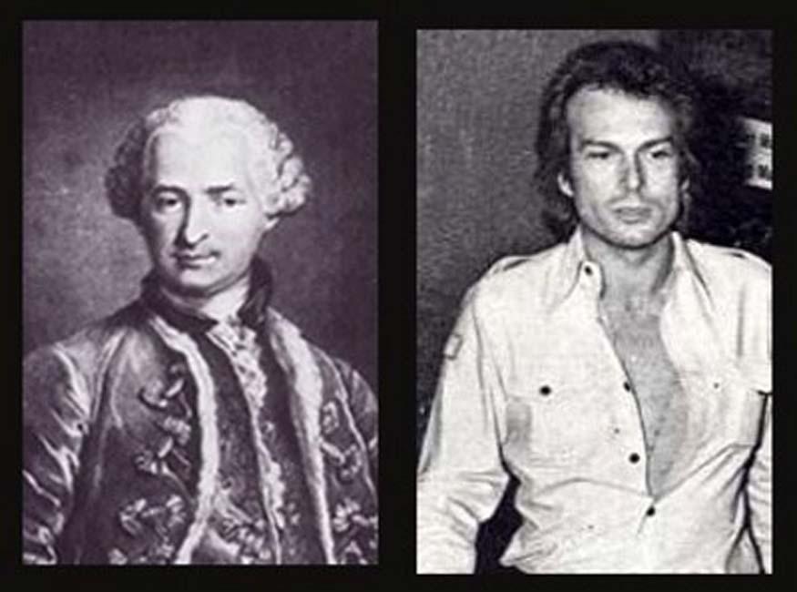 Conde de Saint-Germain y Richard Chanfray, el hombre que afirmaba ser el Conde en la década de 1970. (The PJV)