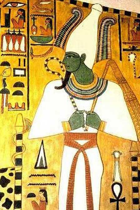 Osiris aparece llevando la Corona Blanca o 'hedjet' en esta pintura funeraria. (Public Domain)