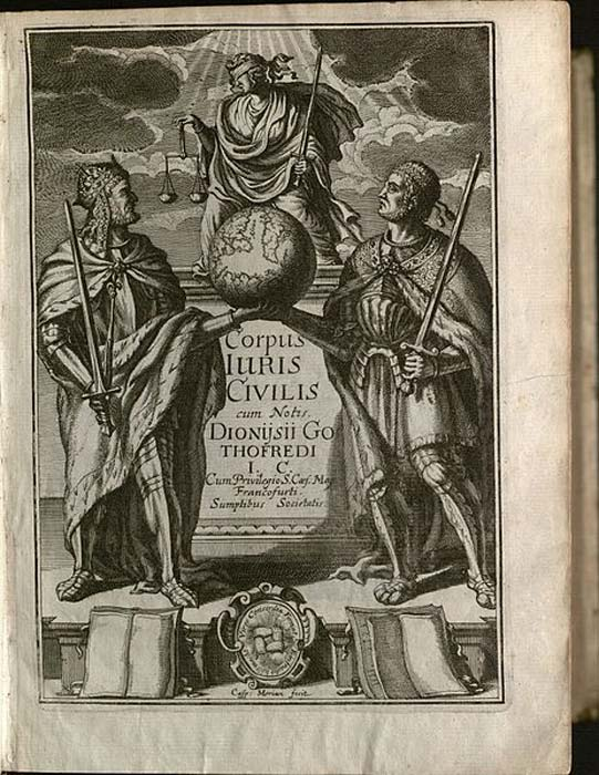 Corpus Iuris Civilis. (Biblioteca Jurídica de Yale/CC BY 2.0)