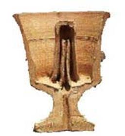 Ilustración del corte de una Copa de Pitágoras. (Fair Use)