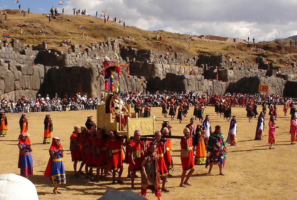 Actos del Inti Raymi en Sacsayhuamán, Cusco (CC by SA 3.0)