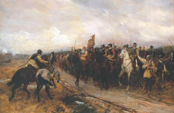 """Cromwell en Dunbar,"" Pintura de 1886 obra de Andrew Carrick Gow (Wikimedia Commons)"