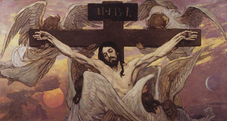 Crucifixión de Cristo. Victor Vasnetsov (1885-1926). (Dominio público)