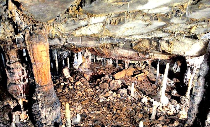 Zona IV de La Garma, donde se han hallado los restos de León de las Cavernas. (Fotografía: Pedro Saura/Agencia SINC)
