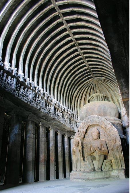 Hay otras cuevas budistas en la India, entre ellas las bellas Cuevas de Ellora. (Y.Shishido/CC BY SA 3.0)