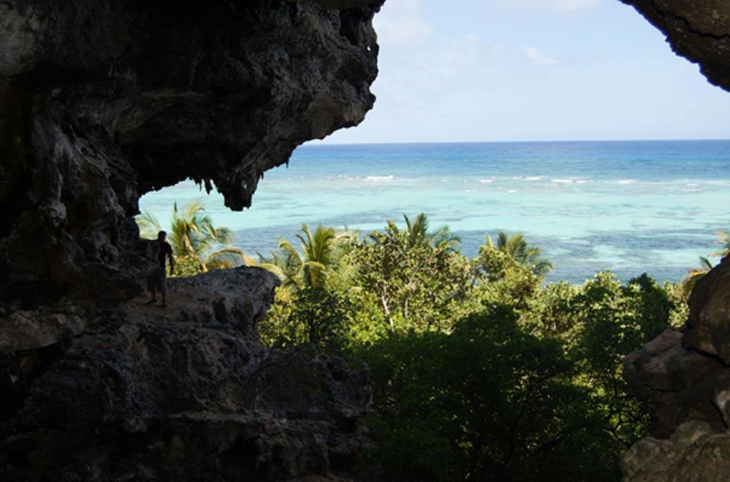 Cueva de la isla de Mona. Fotografía: Universidad de Leicester