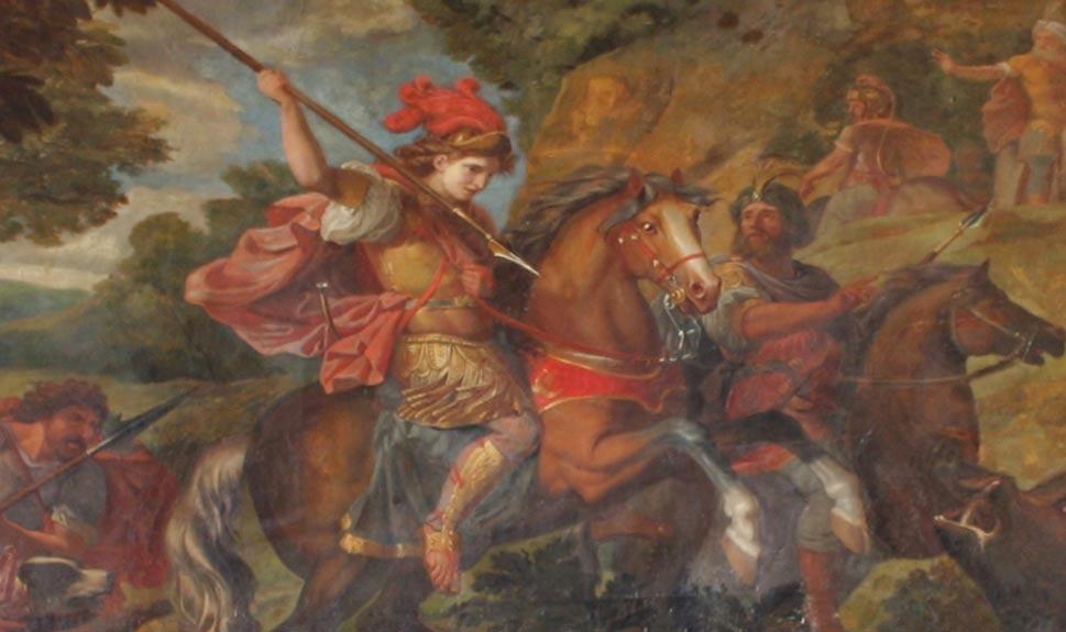 Ciro el Grande entrando en batalla, palacio de Versalles, Francia (Wikimedia Commons)