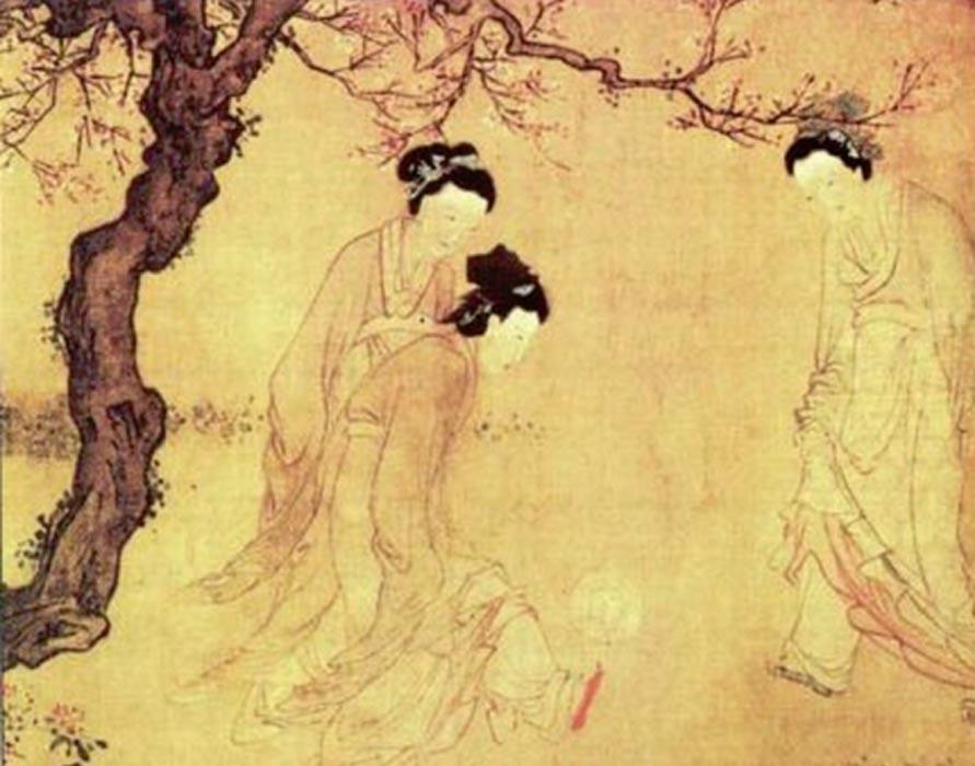 Mujeres chinas jugando al 'Cuju'. Pintura de Du Jin, artista de la dinastía Ming. (Public Domain)