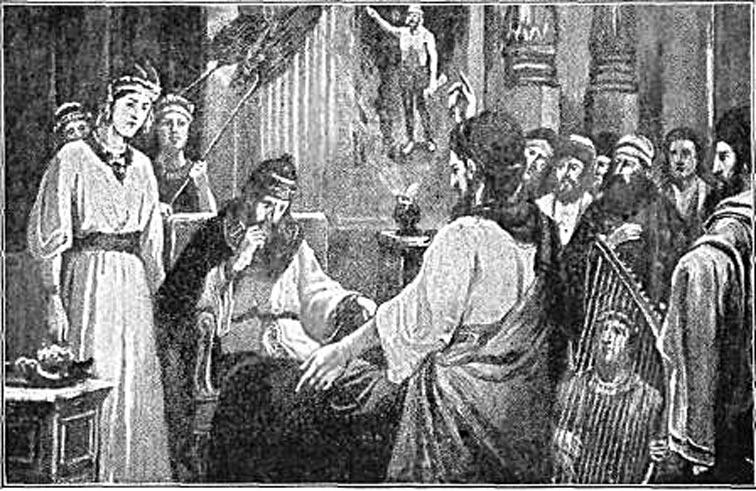 Daniel interpreta el sueño de Nabucodonosor. (Public Domain)