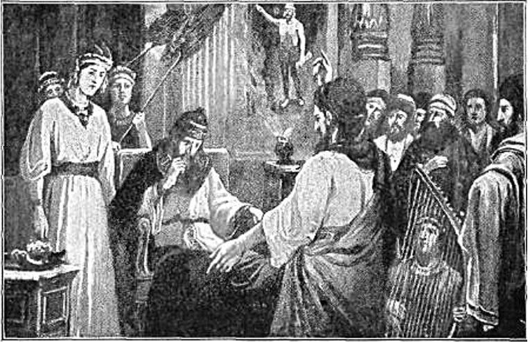 Daniel interpretando el sueño de Nabucodonosor (1917) W. A. Spicer (Wikimedia Commons)