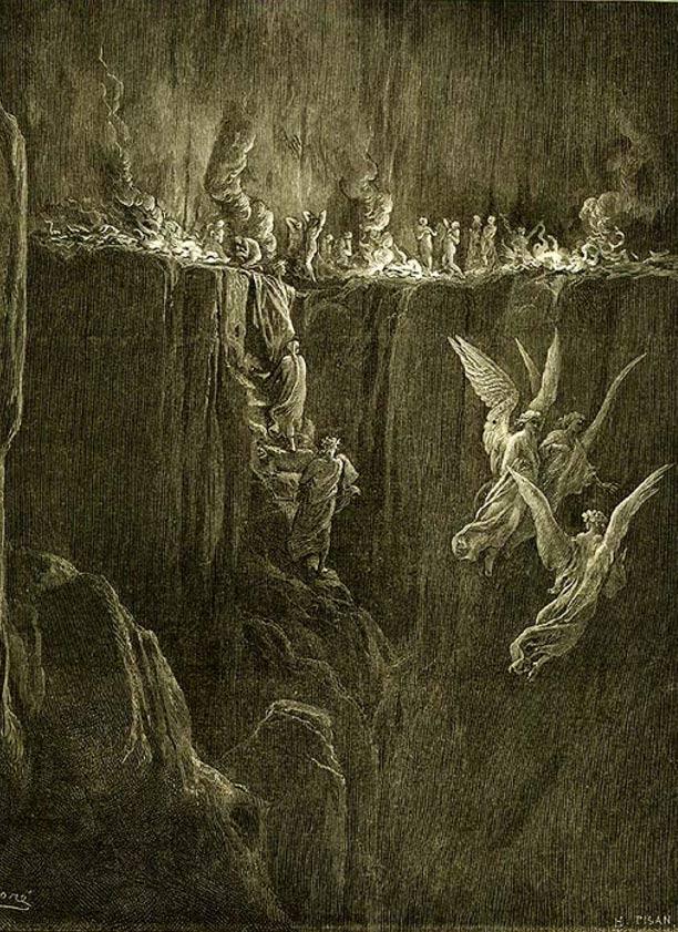 Ilustración del Purgatorio de Dante, obra de Gustave Doré (Wikimedia Commons)