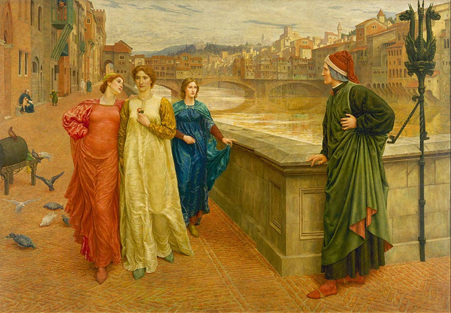 Dante y Beatriz (1882/1884), Henry Holiday (Wikimedia Commons)