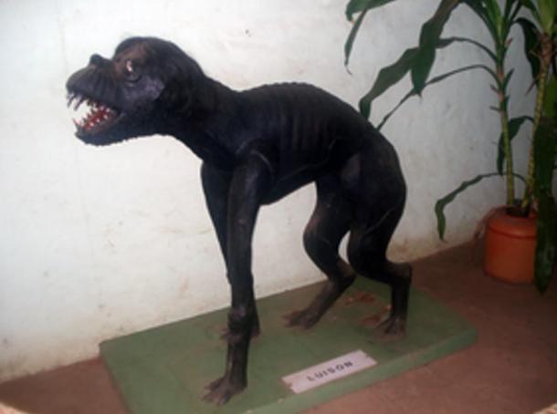 Representación de un Luisón en el Museo Mitológico Ramón Elías (public domain)