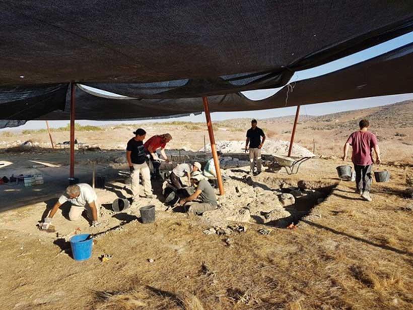 Descubrimiento de la estructura. (Imagen: Michal Haber, Autoridad de Antigüedades de Israel)