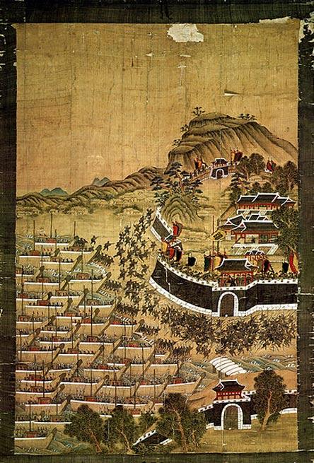 Desembarco japonés en Corea. (Public Domain)