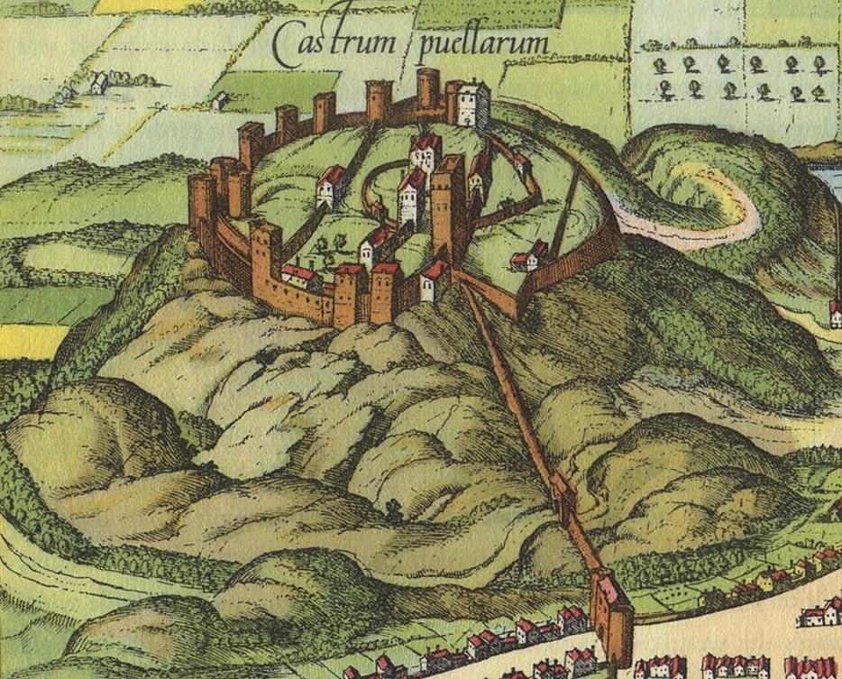 Detalle de una ilustración de Edimburgo, imagen digitalizada a partir de una reproducción del 'Civitates Orbis terrarum', c.1581. (Public Domain)