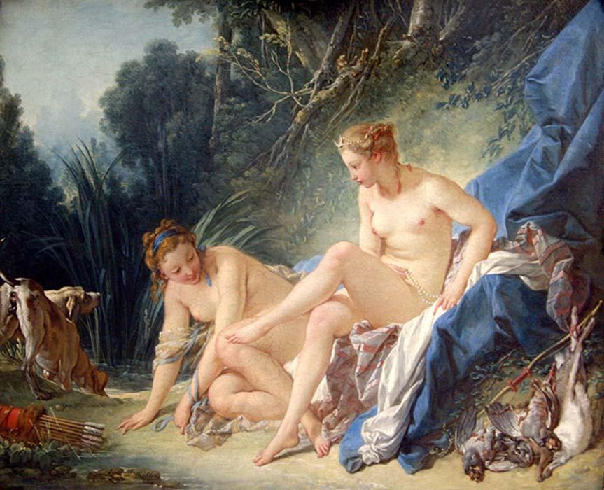 'Diana después del baño', óleo de François Boucher (1742), Museo del Louvre. (Public Domain)