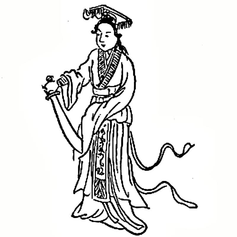 Dibujo correspondiente al número 3 en el Tui Bei Tu chino. (Public Domain)