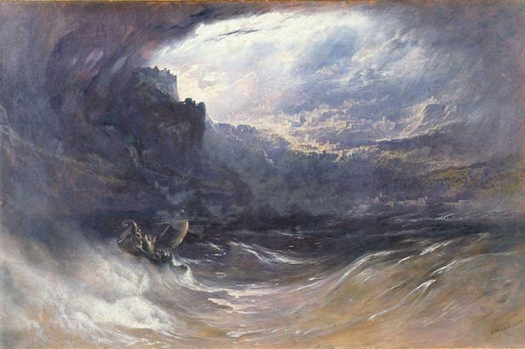 'El Diluvio' (1834), óleo de John Martin. (Dominio público)