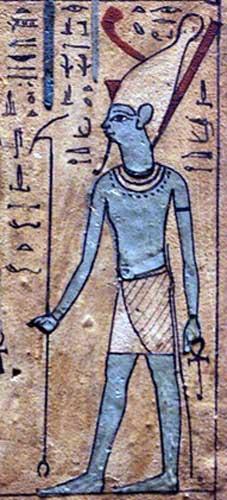 Dios Atón, primer Libro de las Respiraciones de Usirur (Public Domain)