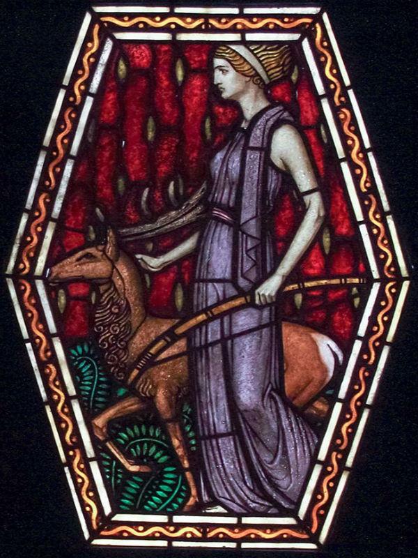 El Templo de Artemisa estaba dedicado a la diosa Artemisa, aquí representada. Artista: Geza Maroti. (Wikimedia Commons)