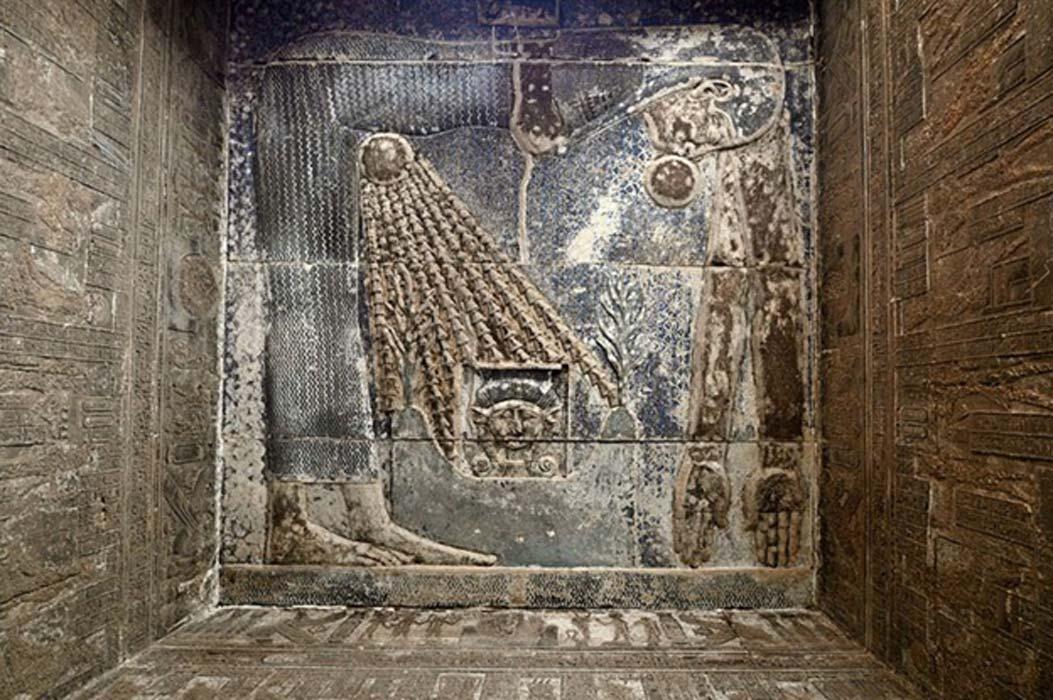 Imagen de la diosa Nut en el interior del Templo de Hathor (CC by SA 4.0)