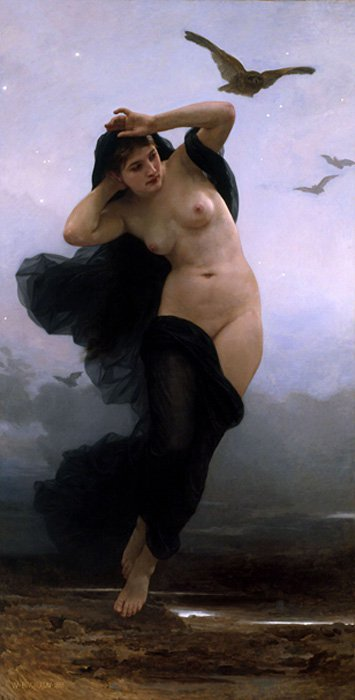 Nyx, diosa primordial de la noche en la mitología griega. (Public Domain)