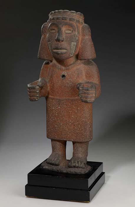La diosa azteca Chalchiuhtlicue estaba asociada con la fertilidad y era la patrona de los partos. (Instituto de Artes de Minneapolis /Dominio público)