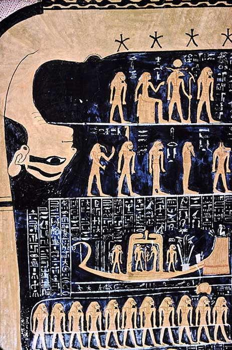 Nut, diosa egipcia del cielo, en la tumba de Ramsés VI. (Hans Bernhard/CC BY SA 3.0)