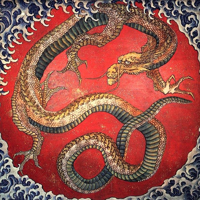Dragon japonés: las leyendas sobre dragones podrían estar inspiradas en el miedo instintivo del ser humano a las serpientes (public domain)