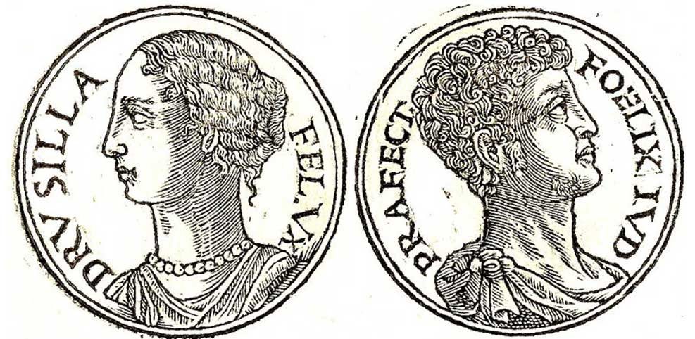 [Izquierda] Drusila (Public Domain) [Derecha] Antonio Félix. (Public Domain)