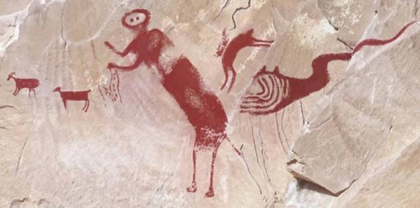 Los investigadores recopilaron las imágenes recogidas por el Dstrech para mostrar las cinco figuras distintas que aparecen en la pintura.(Imagen de Jean-Loïc Le Quellec, Paul Bahn y Marvin Rowe, revista Antiquity)
