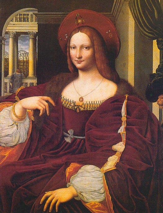 Copia del retrato de la Duquesa Isabel de Aragón, obra de Giulio Romano. Public Domain
