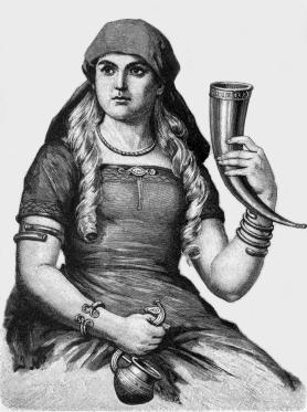 Sif, ilustración de una versión sueca moderna de los Eddas. (Public Domain)