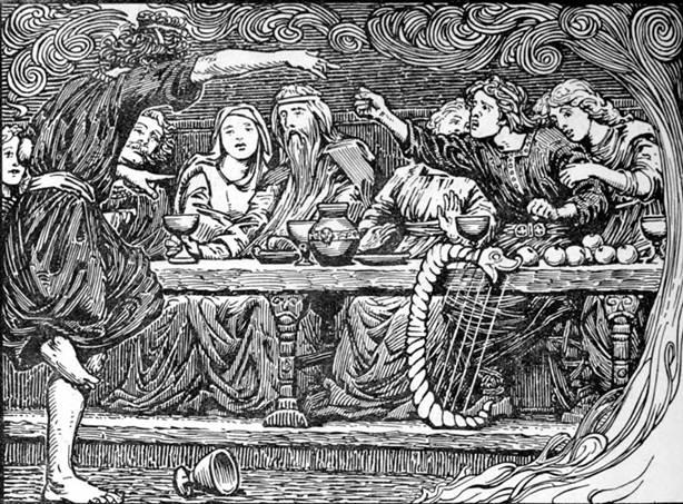 Ilustración de la Edda Mayor o Edda Poética. (Public Domain)