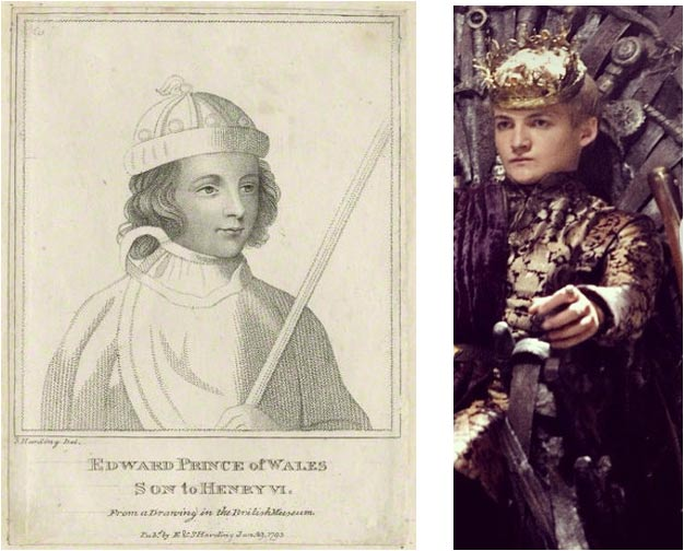 Eduardo de Westminster (Wikimedia Commons)-Joffrey (Bora Bora/Flickr)