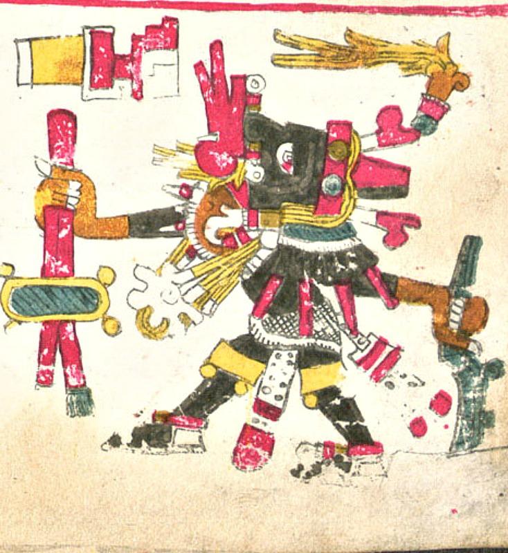 Ilustración del dios del viento Ehécatl-Quetzalcóatl, una de las deidades descritas en el Códice Borgia. (Public Domain)