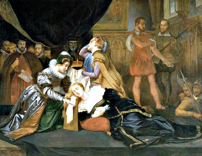 Muerte de María Estuardo (1587), óleo del artista Abel de Pujol (1785-1861). Museo de Bellas Artes de Valenciennes, Francia. (Public Domain)