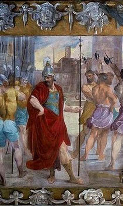 """""""El orgullo de Rómulo"""" (detalle). )"""