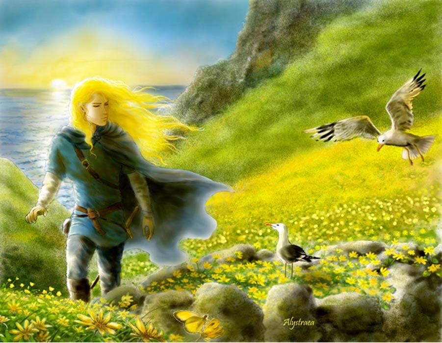 Bella representación artística de un elfo de la Tierra Media. (Alystraea/CC BY-SA 4.0)