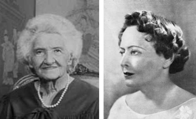 Dra. Elisabeth Caspari y Gloria Gasque