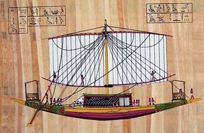 Embarcación del antiguo Egipto. Imagen: Museo Canadiense de Historia