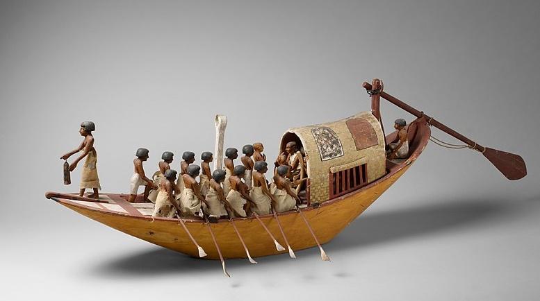 Embarcación a remo del antiguo Egipto. (CC0)