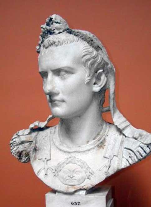 Reconstrucción de un busto del emperador Cayo, más conocido como Calígula. (CC BY-SA 3.0)