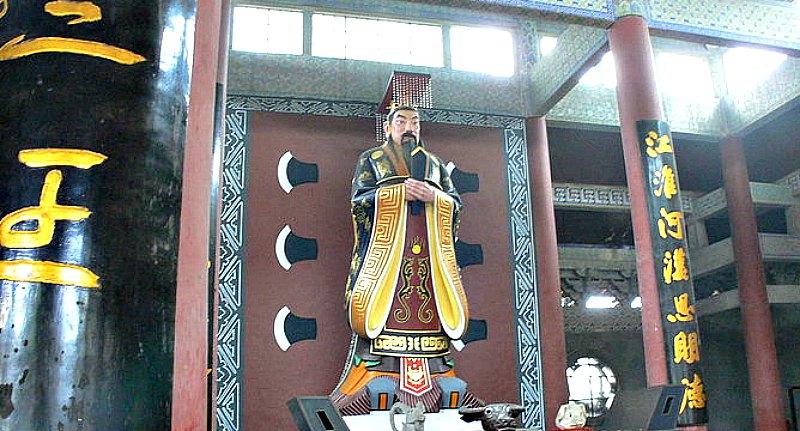 Estatua del emperador Yu, el Grande, en el Templo Yu de Shaoxing, China. (Gisling/CC BY- SA 3.0)