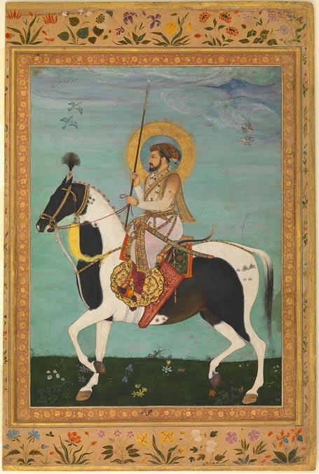 El quinto emperador mogol de la India, Shah Jahan (Shahabuddin Muhammad Shah Jahan) a caballo (Public Domain)